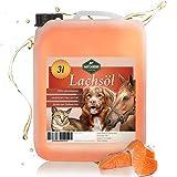 Martenbrown® Lachsöl für Hunde, Pferde und Katzen, Fischöl im Kanister, Barf-Öl (3 Liter)
