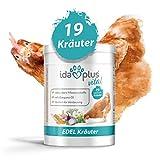 Ida Plus – Hühner Edel-Kräuter (500 g) – Mischung aus 19 wertvollen Kräutern – für Verdauung – ausgewogenes Futter 100% natürlich