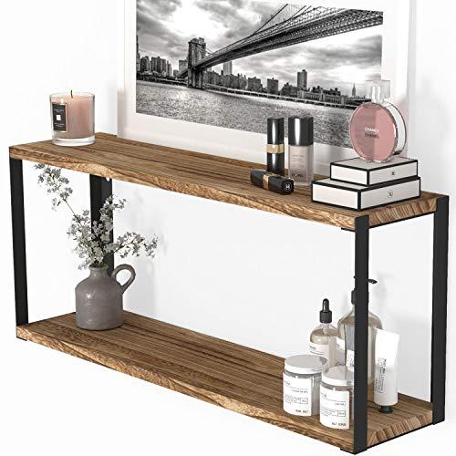 Teraves 5-Tier Adjustable Bookshelf Wood Bookcase with Metal Frame Book Shelf Organizer for Living Room/Bedroom/Study Room,46 Variants (BOAK)