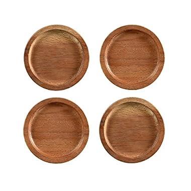 Noritake Kona Wood 3-3/4-Inch Coasters, Set of 4