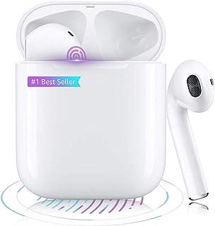 Auricolare Bluetooth 5.0 Auricolare stereo 3D senza fili Touch Microfono binaurale HD Chiamata Finestra pop-up automatica ...