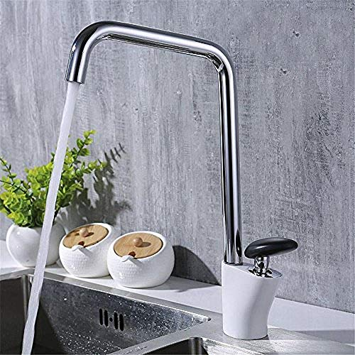 Professional Kitchen Sink Tap Brass Chrome Hot and Cold Valve 360 Degree Swivel Seven Words Basin Mixer Tap Basin Kitchen Faucet