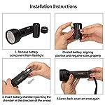 2 Pack UV Flashlight Black Light, Escolite 51 LED 395nm Ultraviolet Blacklight Detector for Dry Pet Urine and Bed Bug 9