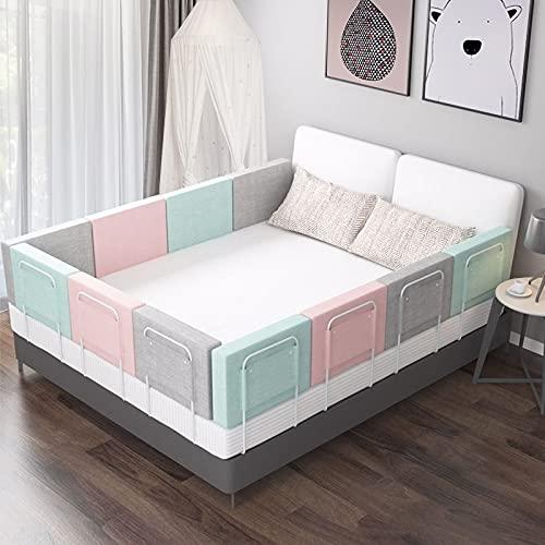 PPuujia Riel de cama ajustable para recién nacido, valla ajustable para cama de bebé, barandilla de seguridad para el hogar, parque de juegos en carriles de cuna de 0 a 6 años (color: verde)