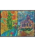 Colorvelvet C29 Raccoglitore AD Anelli Van Gogh Chiesa Auver