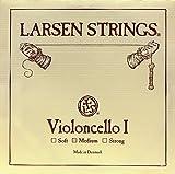 Larsen - Corde per violoncello A, acciaio cromato, 4/4, misura: media...