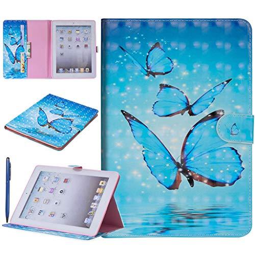 Careynoce 3D Emboss PU lederen Flip portemonnee beschermhoes voor Apple iPad iPad Air/iPad 5 M11