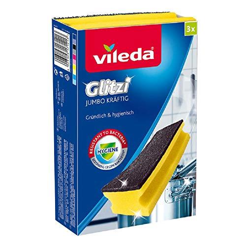 Vileda Glitzi Jumbo Kräftig mit Antibac - Extra scheuerstark auch auf großen Flächen