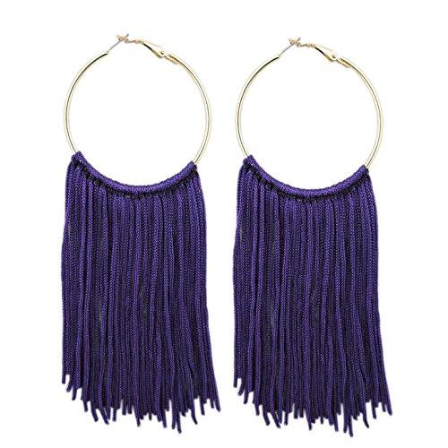 Coiris - Pendientes colgantes con borlas para mujer