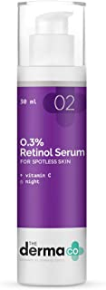 The Derma Co 0.3% Retinol Serum for Face for Younger-Looking & Spotless Skin - 30 ml(dermaco)