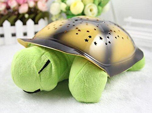 JIANGJIE Kreative Musik Schildkröte Projektion Sternenhimmel Schildkröte Schlafen Lampe Nachtlicht Musik Schildkröte Beleuchtung Urlaub Geschenke Für Kinder,Fruitgreen