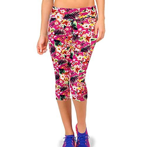 KUKICAT Damen Laufhose Sporthose Sport Leggings Tights Elastische Leggings mit hoher Taille an der Hüfte und Laufjogginghose mit kurzen Hosen