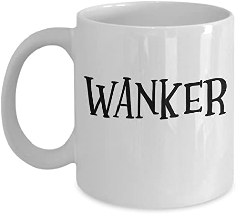 Gifts For Him Running Wanker Ceramic Coffee Mug Funny Novelty Rude Joke Mugs