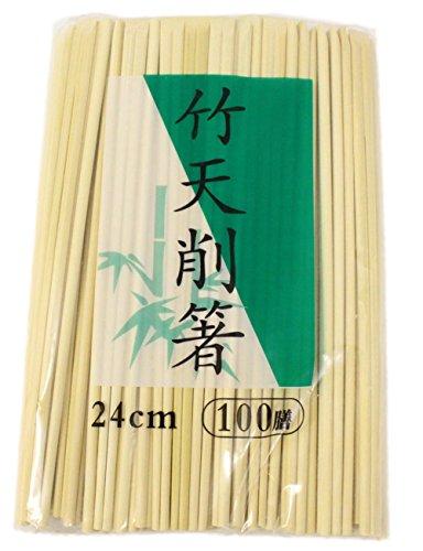 業務用 割り箸 竹 天削箸 100膳入り すこ~し長めで使いやすい 24cm