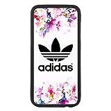 Funda Carcasa de móvil para Samsung Galaxy j7 (2016) Logotipo Adidas Logo Flores TPU Borde Negro