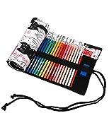 amoyie Sacchetto della matita tela rotolo astuccio per 48 matite colorate - Tela astucci (...