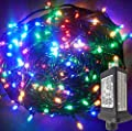 YASENN 200LED 66Ft Christmas String Lights Connectable Plug in,Fairy Lights 8 Lighting Modes with Timer for Garden Tree Patio Porch Decorations (200LED 66Ft, Multicolor LED Green Cable)