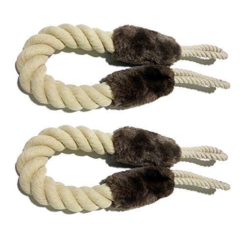 Gobesty Türstopper Klinke, 2 Stück Baumwolle Türkordel Klemmschutz, für Haustier und Kinder Fingerschutz Türenzuschlagen zu vermeiden