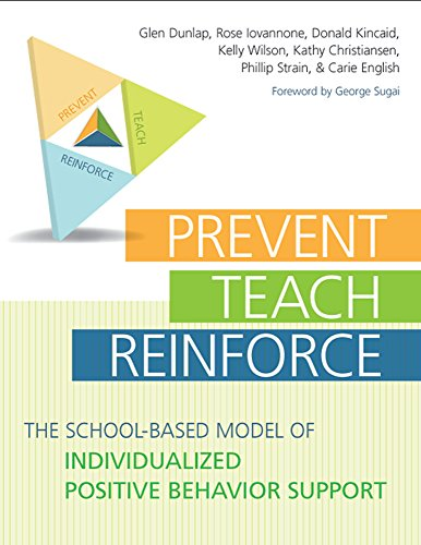 """Compare Textbook Prices for Prevent-Teach-Reinforce: The School-Based Model of Individualized Positive Behavior Support Pap/Cdr Edition ISBN 9781598570151 by Dunlap Ph.D., Glen,Iovannone Ph.D., Rose,Kincaid Ed.D., Donald,Wilson B.S., Kelly,Christiansen Ph.D., Kathy,Strain Ph.D., Phillip S.,English """"Ph.D.  BCBA"""", Carie,Sugai Ph.D., George"""