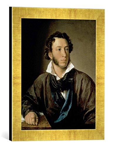 Kunst fr Alle 'Fotografa enmarcada de wassilj andreje witsch Tropinin Portrait de Alexander Gato Disfrazado (17991837), de impresin handgefertigten imgenes de Marco, 30x 40cm, Oro Raya
