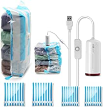 VMSTR Travel Vacuum Storage Bags with USB Electric Pump, Medium Small Space Saver Bags for Travel
