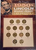 The Complete 1950's Lincoln Wheat Penny Collection Various Mint Marks Circulated