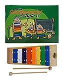 Carillón de Juego–El inicio Ideal–Compuesto de una alta calidad carillón con estructura de madera (de madera FSC) y cuaderno de enseñanza con CD