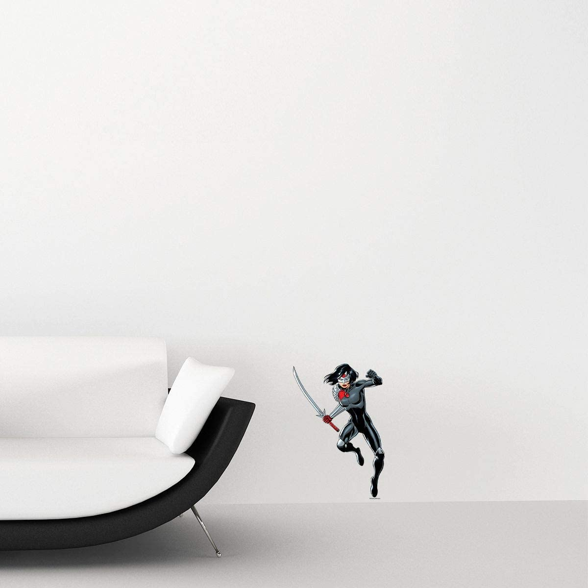 Kismet Decals Katana Leap Attack Officially Licensed Wall Sticker - Easy DIY Justice League Home, Kids or Adult Bedroom, Office, Living Room Decor Wall Art Decal Mural Small