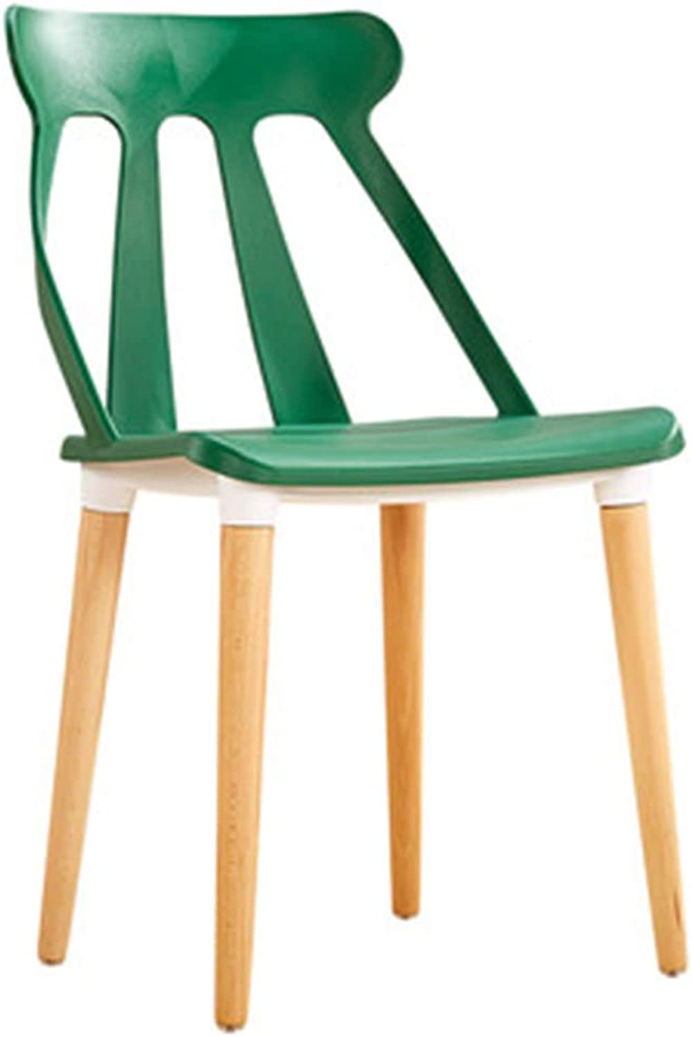 Chair Chair Modern Simplicity Easy Assembly Solid Wood Chair Legs Restaurant Study Room (color   Green)