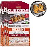 Camerons Smoker Bags - Set of 6 Hickory Smoking Bags for Indoor or Outdoor Use - Easily Infuse Natural Wood Flavor (11in x 19in)