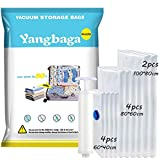Yangbaga Bolsas de Almacenaje al Vacío 10 Unidades Bolsas V