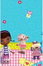 "Doc McStuffins Rectangular Table Cover Birthday Party Tableware Decoration (1 Piece), Blue/Pink, 54"" x 96""."