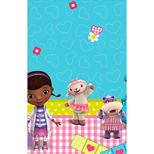 """Price comparison product image Doc McStuffins Rectangular Table Cover Birthday Party Tableware Decoration (1 Piece),  Blue / Pink,  54"""" x 96""""."""