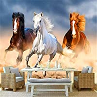 Djskhf カスタム壁画壁紙3Dステレオ馬写真壁紙リビングルームテレビソファ寝室背景壁画3D 400X280Cm