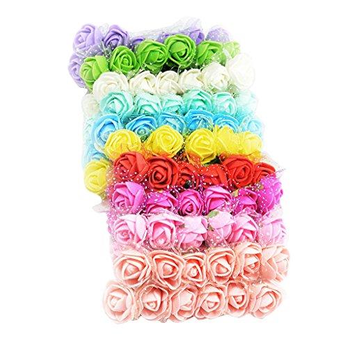 120er Set Künstliche Schaum Blumen Blüten Schaumköpfe Blütenköpfe Deko Blumenköpfe für Hochzeit Party Dekoration
