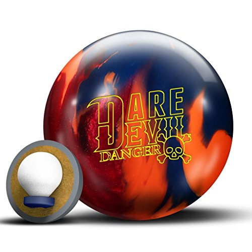 Roto Grip Dare Devil Danger Bowling Ball, Red/Orange/Blue, 15lb