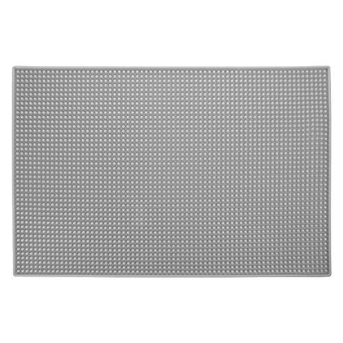 Lurrose Anti-slip pad zachte opvouwbare siliconenmat gereedschap organisator accessoires voor kam haarspeld spiegel sleutel whiteboards mobiele telefoon glas tondeuse (rood) Größe 1 grijs