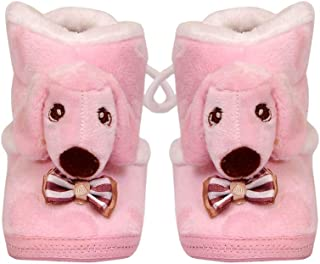 The First Baby Unisex Boy & Girl Unisex Imported Doggy Winter Baby Booties Shoes