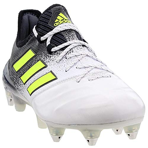 adidas Mens Ace 17.1 Soft Ground Leather Soccer Casual Cleats, White, 10