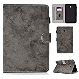 Yhuisen Cloth Texture PU Leather Tablet Stand Smart Case Cover for Samsung Galaxy Tab E 8.0 inch SM-T375/SM-T377 (Color : Gray)