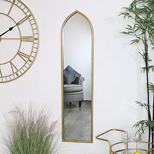 Melody Maison - Specchio ad arco alto e sottile, colore: Oro