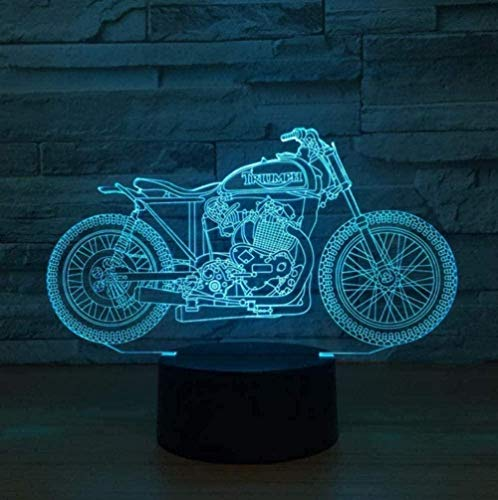 Baby Spielzeug 3D LED Touch lámpara de mesa Luz de noche Cross-Country Decoración de motocicleta 16 cambios de color USB iluminación de sueño como regalo