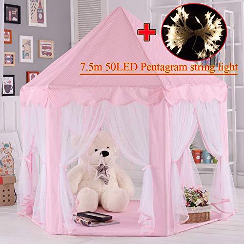 Tenda per bambini,Castello bambini per giocattoli,tenda per la principessa castello,Tenda gioco,tende per i bambini per uso interno e all'aperto,custodia per trasporto,regalo di compleanno(Rosa)