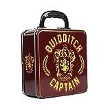 Harry Potter - Blechkoffer Brotdose Lunchbox - Quidditch Captain - Gryffindor Wappen - Logo - beidseitig bedruckt