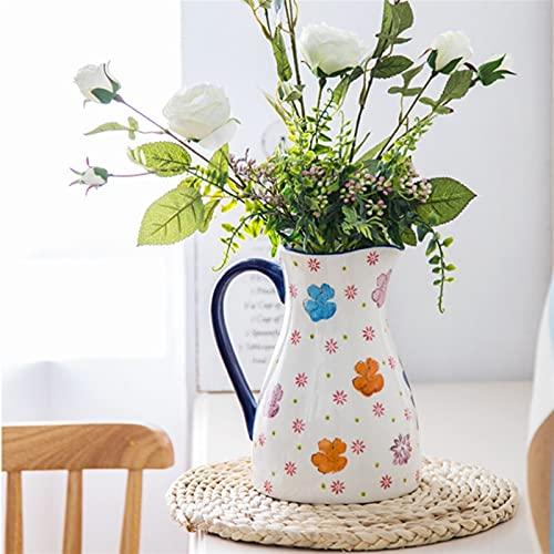 YSJJXTB Jarrón Kettle nórdico Gran jarrón de Flor de cerámica decoración casero Vintage arreglo jarrón Sala de Estar Sala de Estar Boda Planta Mesa (Color : Kettle Vase)