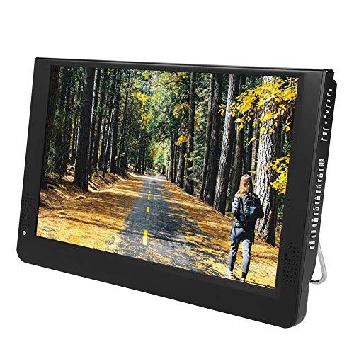12 Zoll Tragbar HD DVB-T/T2 TFT LED Fernseher, Digital ATV/UHF/VHF TV, Auto Fernseher Anlaog TV Tuner mit Eingebautem Lautsprecher, VGA AV HDMI USB Anschlüsse, SD/MMC Karte Steckplätze