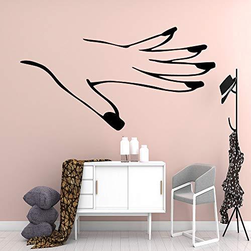 wopiaol Cartoon Hand nagelstudio Vinyl keuken muursticker behang voor kinderkamer Home Decor Muurtattoo Home L 43cm X 81cm