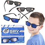 Real Spy Sunglasses, Rear View Mirror Sunglasses, Look Behind You with Inside The Lens Mirrors, 3-Pack