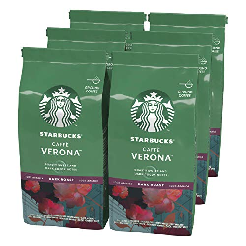 STARBUCKS Caffe Verona Filterkaffee, Röstkaffee gemahlen, Dunkle Röstung (6 x 200g)