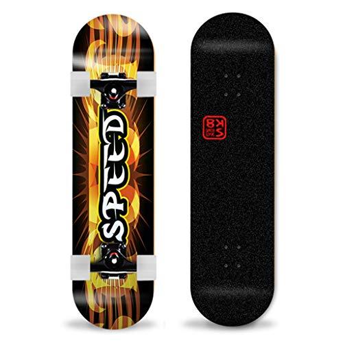 GDF-Skateboards 31x 8 inch compleet skateboard 7 lagen esdoorn concaves houten plank trick action wielen dubbele trap geschikt voor professionals